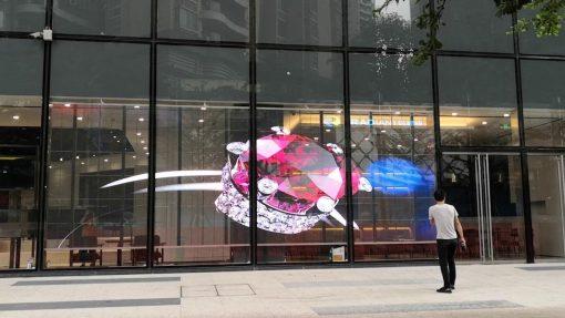 transparent display advertising